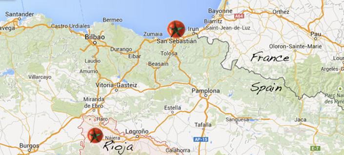 Map Of Spain Eibar.Basque Cooking Gourmet On Tour
