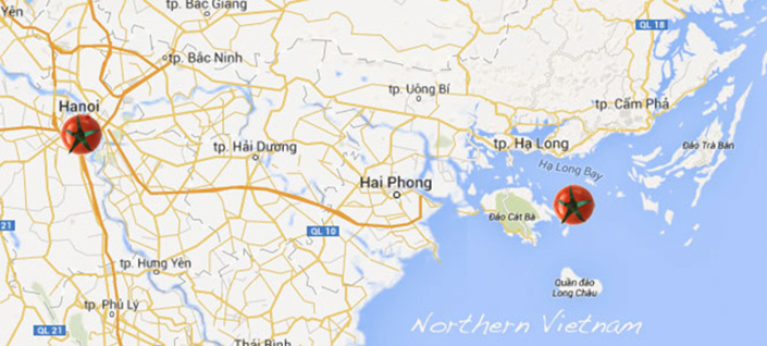 Northern Vietnam Map.Tour Vietnam Northern Vietnam Map Gourmet On Tour