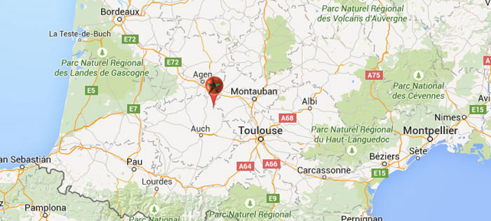 Map Of France Gascony.Tour France Gascony Map Gourmet On Tour