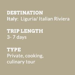 Tour Italy Liguria info-block