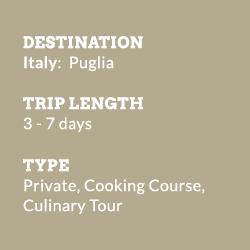 Puglia on a Plate info-block